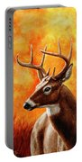 Whitetail Buck Portrait Portable Battery Charger