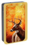 Whitetail Buck Portrait Portable Battery Charger by Crista Forest