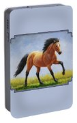 Buckskin Horse - Morning Run Portable Battery Charger
