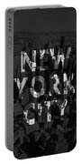 New York City - Black Portable Battery Charger by Nicklas Gustafsson