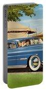 1951 Hudson Hornet Fair Americana Antique Car Auto Nostalgic Rural Country Scene Landscape Painting Portable Battery Charger
