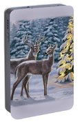 Whitetail Christmas Portable Battery Charger