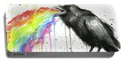 Raven Tastes The Rainbow Portable Battery Charger