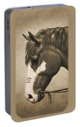 War Horse Aged Photo Fx Portable Battery Charger