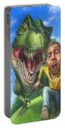 Tyrannosaurus Rex Jurassic Park Dinosaur - T Rex - Paleoart- Fantasy - Extinct Predator Portable Battery Charger