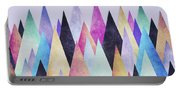 Colorful Abstract Geometric Triangle Peak Woods  Portable Battery Charger