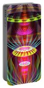 Alien Sphere Fractal Fantasy Portable Battery Charger