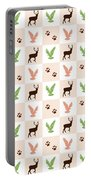 Rustic Wildlife Pattern Portable Battery Charger