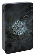 Snowflake Photo - Alcor Portable Battery Charger by Alexey Kljatov