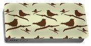 Brown Bird Silhouette Modern Bird Art Portable Battery Charger