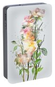 Wild Roses Portable Battery Charger