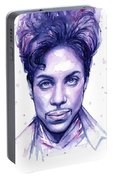 Prince Purple Watercolor Portable Battery Charger