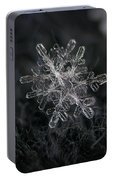 Snowflake Photo - January 18 2013 Grey Colors Portable Battery Charger
