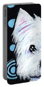 Kiniart Disco Westie Portable Battery Charger
