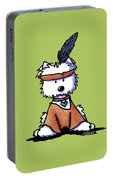 Westie Pocahontas Portable Battery Charger