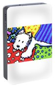 Pillow Pile Westie Portable Battery Charger