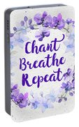 Chant, Breathe, Repeat Portable Battery Charger