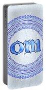 Blue Om Mandala Portable Battery Charger