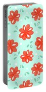 Cheerful Red Flowers Portable Battery Charger