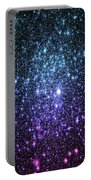 Galaxy Stars Teal Violet Pink Portable Battery Charger
