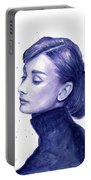 Audrey Hepburn Portrait Portable Battery Charger
