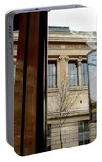 Paris Cafe Views Reflections Portable Battery Charger