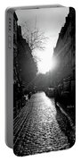 Evening Walk In Paris Bw Portable Battery Charger