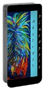 Abstract Pineapple Portable Battery Charger