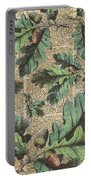 Oak Tree Leaves And Acorns, Autumn Dictionary Art Portable Battery Charger