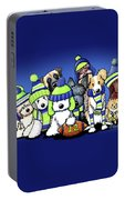 12 Dogs On Blue Portable Battery Charger