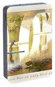 Austin Texas - Lady Bird Lake - Mid November Three - Greeting Card Portable Battery Charger by Felipe Adan Lerma