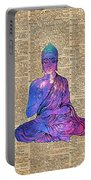 Space Buddha Dictionary Art Portable Battery Charger