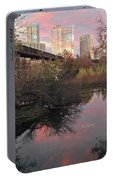 Austin Hike And Bike Trail - Train Trestle 1 Sunset Triptych Right Portable Battery Charger