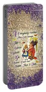 Alice With The Duchess Vintage Dictionary Art Portable Battery Charger