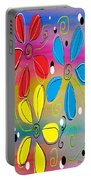 Bright Flowers Intertwined Portable Battery Charger