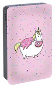 Chubby Unicorn Eating Sprinkle Doughnut Portable Battery Charger