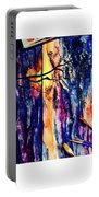 Indian Summer Watercolour Framed Handmade Painting Portable Battery Charger