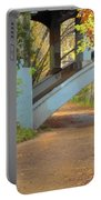 Austin Hike And Bike Trail - Under Lamar Street Bridge - Fall Colors Portable Battery Charger