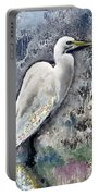 Silver Lake Snowy Egret Portable Battery Charger