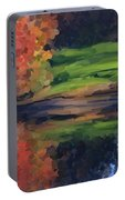 Autumn By Water Portable Battery Charger