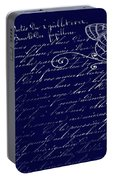 Blue Midnight Butterfly Portable Battery Charger
