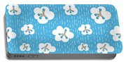 Clouds And Methane Molecules Pattern Portable Battery Charger
