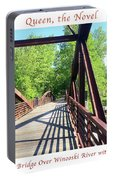 Image Included In Queen The Novel - Bike Path Bridge Over Winooski River With Sailboat 22of74 Poster Portable Battery Charger
