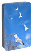 Seagulls In Winter Flight Portable Battery Charger
