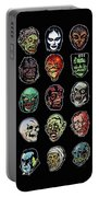 16 Horror Movie Monsters Vintage Style Classic Horror Movies  Portable Battery Charger