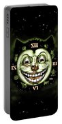 Black Cat 13 Halloween Clock Portable Battery Charger