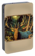Elk Painting - Autumn Majesty Portable Battery Charger