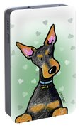 Dobie With Love Portable Battery Charger