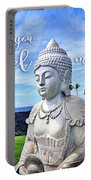 Go Where You Feel Most Alive Hawaiian White Buddha Portable Battery Charger