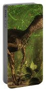 Velociraptor Dinosaur In The Forest - 3d Render Portable Battery Charger